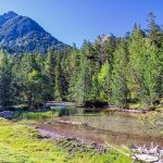 Aigüestortes National Park in the Vall de Boi, Spain. Two thousand feet the water is present